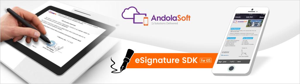 Andolasoft Launches E-Signature SDK for iOS Apps