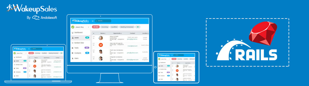 WakeUpSales SaaS CRM Application to Manage Your Sales Activities Powered by Rails