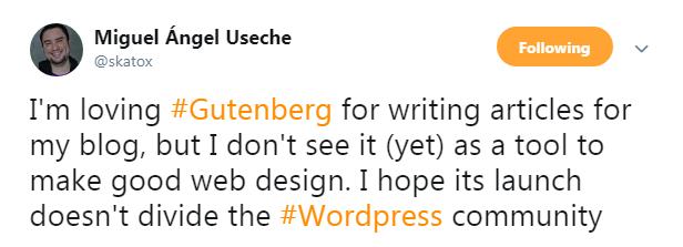 Miguel Angel Useche On WordPress 5.0